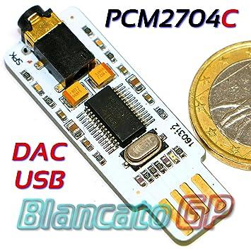 Tarjeta de Audio Externa USB DAC Texas Instruments PCM2704C ...