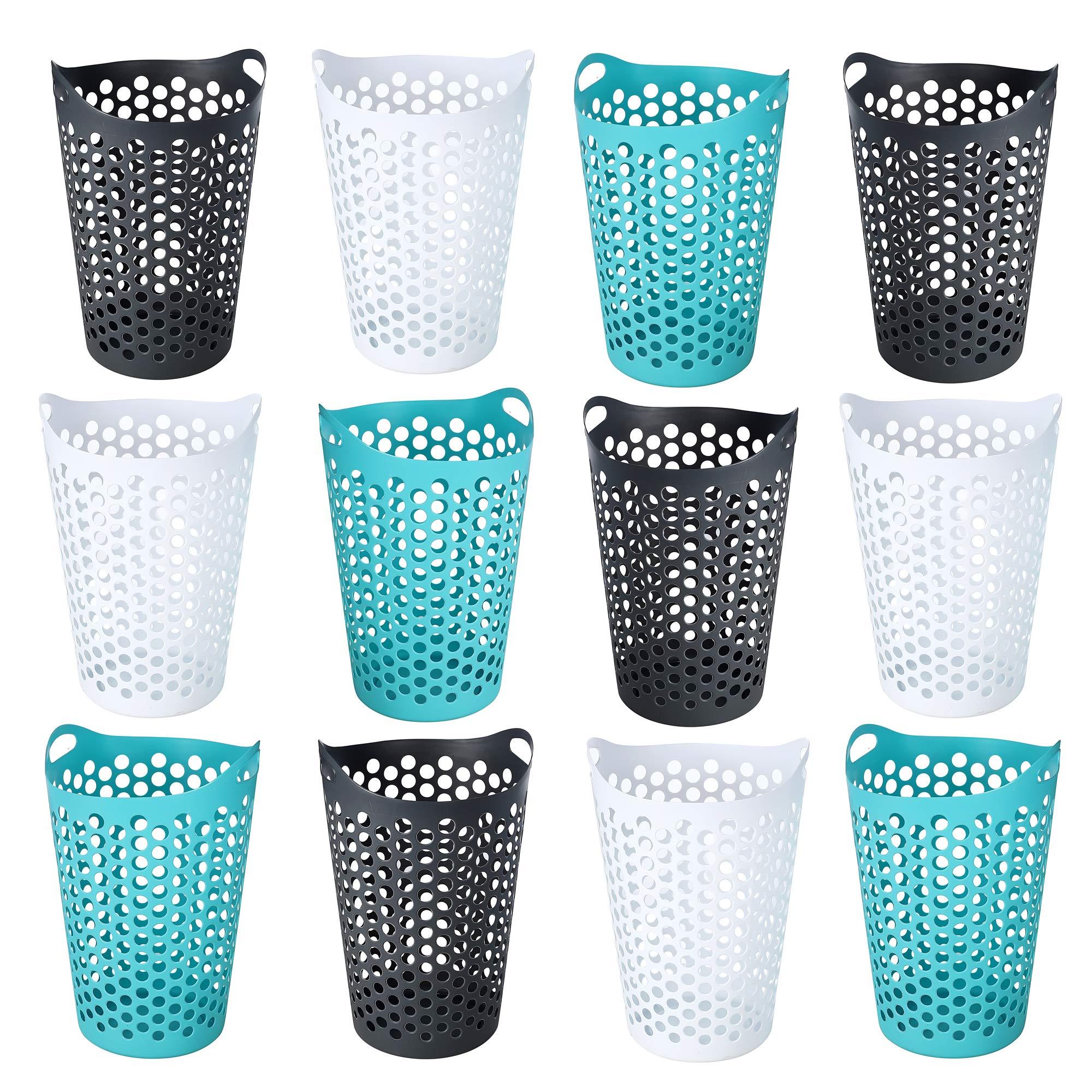 Ezy Storage Flexi 15 Gallon Plastic Flex Laundry Basket Clothes Hamper (12 Pack) by Ezy Storage