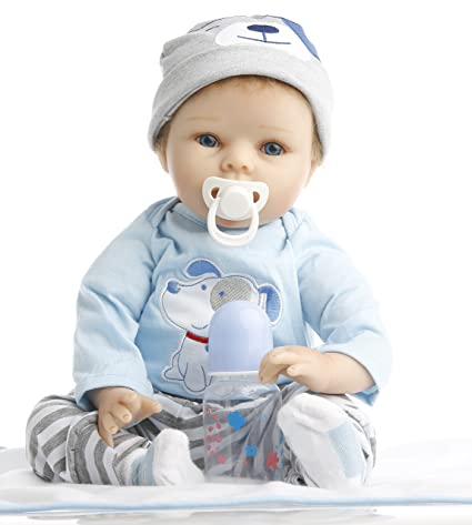 7c00b8be5 Amazon.com  NPK Collection Reborn Baby Doll realistic baby dolls 22 inch  Vinyl Silicone Babies Doll Newborn real baby doll Cute boy  Toys   Games