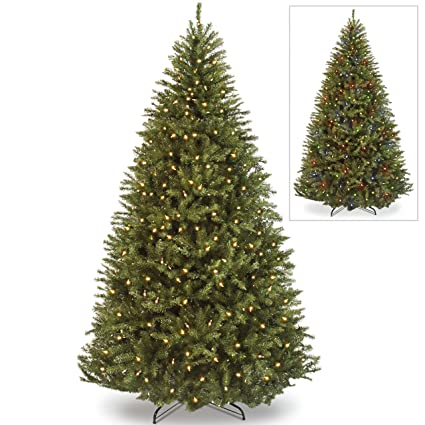Best Choice Products 7 5ft Pre Lit Fir Hinged Artificial Christmas Tree W 700 Dual Colored Led Lights Adjustable White And Multicolored Lights 7