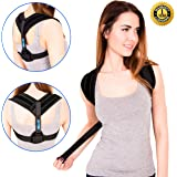 Back Posture Corrector - Kyphosis Brace - Adjustable Posture Brace - Posture Support for Women and Men - Best Posture Corrector - Figure 8 Brace Posture - Clavicle Brace - No slouching or Hunched Back