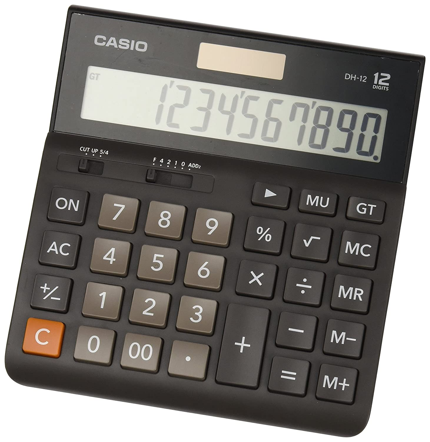 Incredible Casio Dh 12 Professional Desk Display Calculator Battery Solar Energy Driven Tilted Display Download Free Architecture Designs Crovemadebymaigaardcom