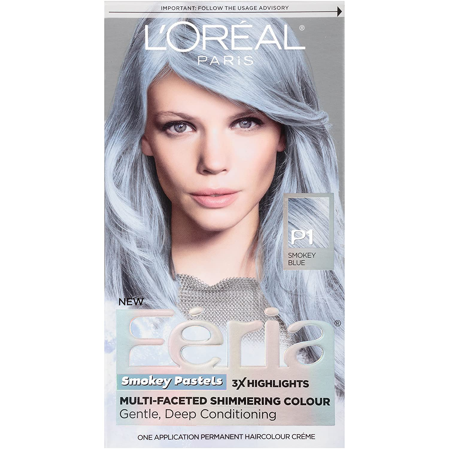 The look at home using l oreal paris feria smokey pastels in p2 smokey - Amazon Com L Or Al Paris Feria Pastels Hair Color P1 Sapphire Smoke Smokey Blue Beauty
