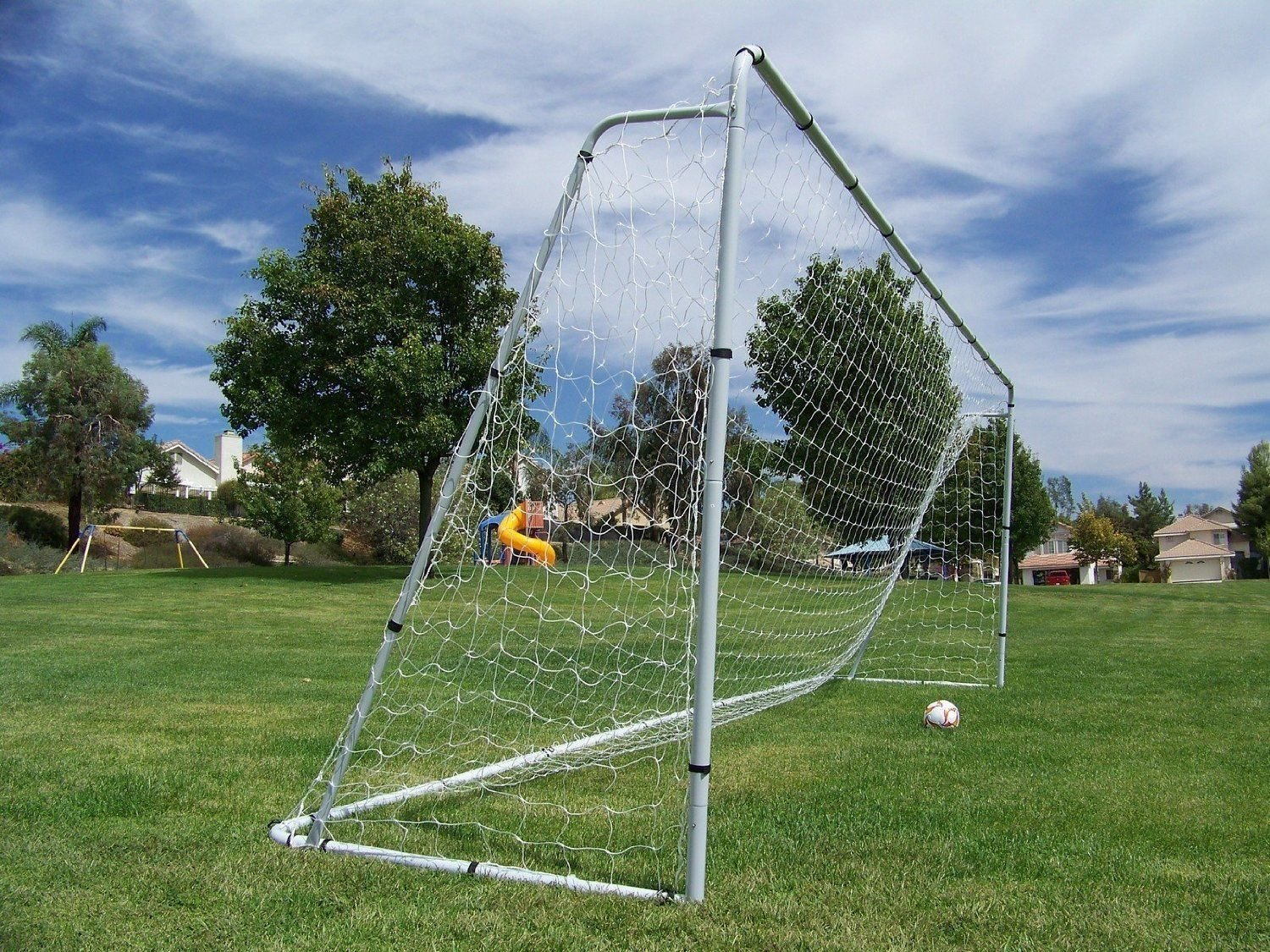 amazon com 24 u0027 x 8 u0027 x 5 u0027 large huge steel soccer goal w quality