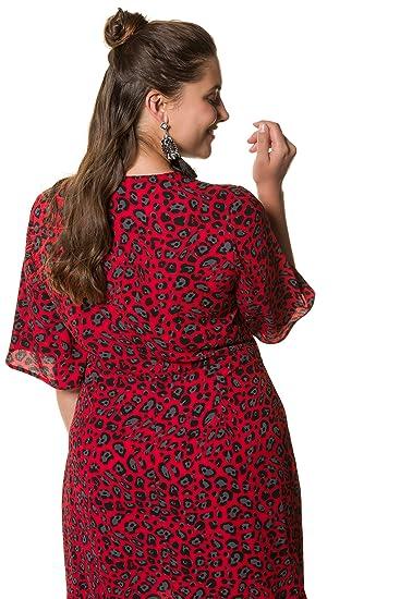 Studio Untold Women\'s Plus Size Leopard Print Dress 718722 at Amazon ...