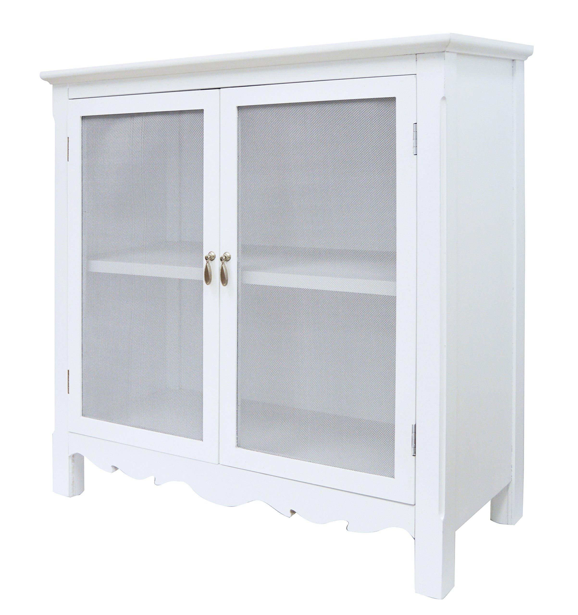WHITE CHARLESTON CABINET