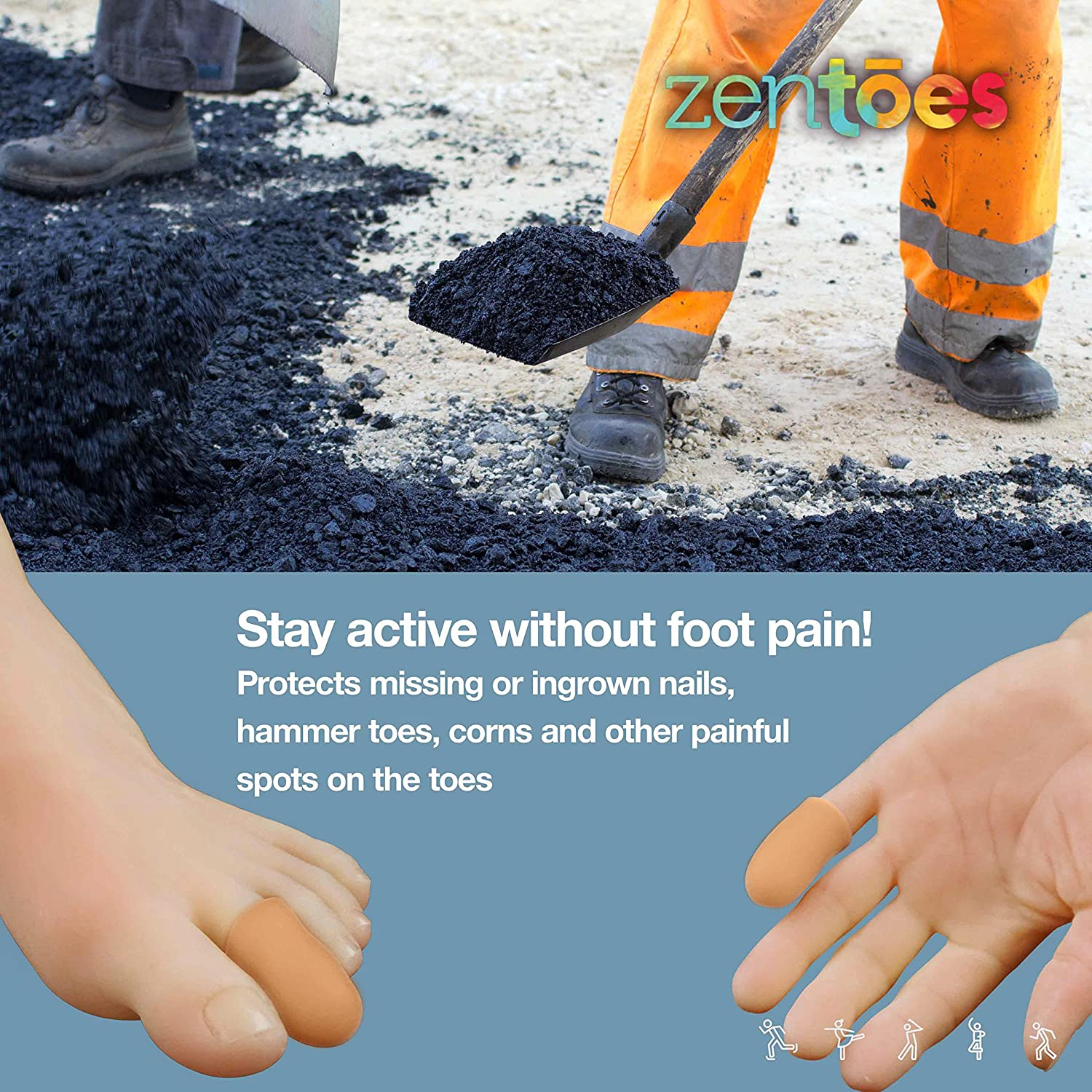 Amazon.com: ZenToes 6 Pack Gel Toe Cap and Protector - Cushions and ...