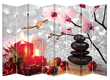 Amazoncom Toa 8 Panel Folding Screen Canvas Privacy Partition
