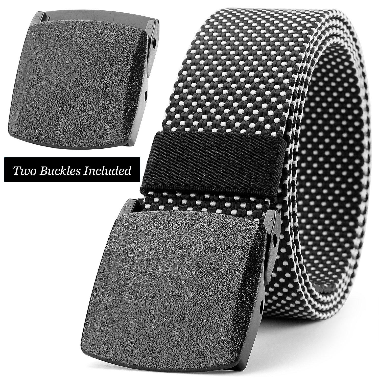 JASGOOD Nylon Belt Outdoor Belt Reversible Belt Tactical Police Duty Belt with YKK Plastic Nickel Free Buckle Up to 48''