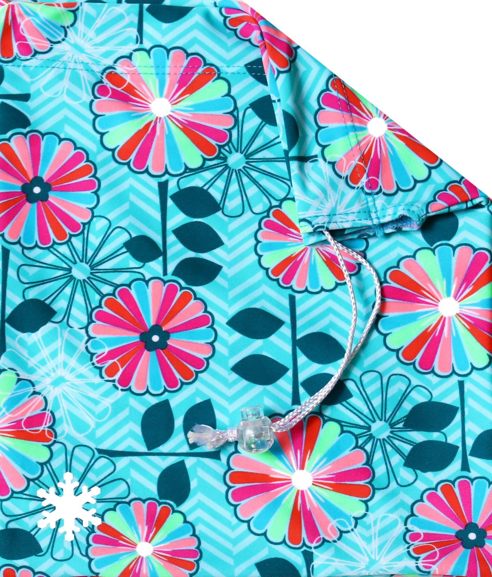Snowflake Designs In Bloom Gymnastics Grip Bag