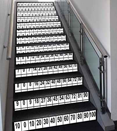 Amazoncom Stair Stickers Wall Stickers13 Pcs Self Adhesive