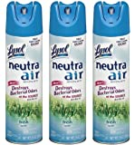 Lysol Neutra Air Sanitizing Spray Air Freshener, Revitalizing Fresh Breeze, 16 Ounce (Pack of 3)