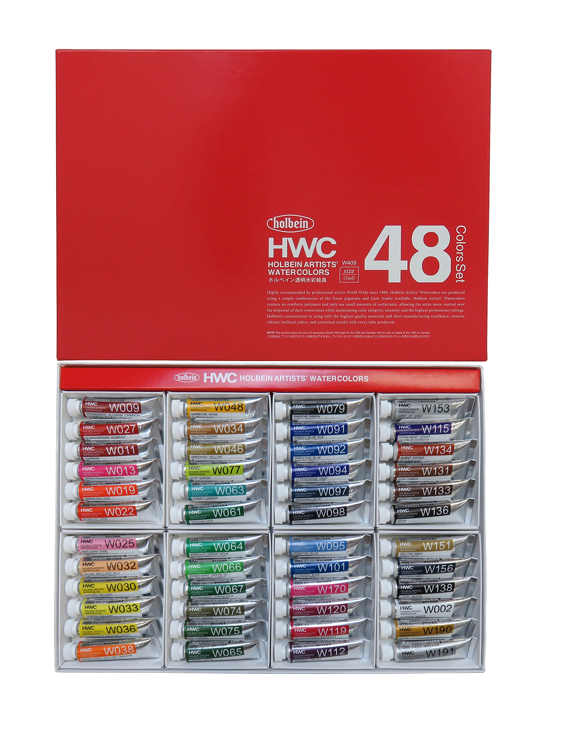 Holbein Wc W409 Set Of 48 5Ml Tubes