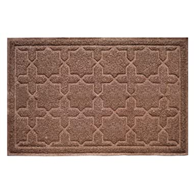 CLC Signature Extra Large Premium Cat Litter Mat - by Antimicrobial Non-Slip Pet Feeding | Traps Litter Keeps Residue Off Floors | Easy to Clean XL 35 x 23 inches (Brown)