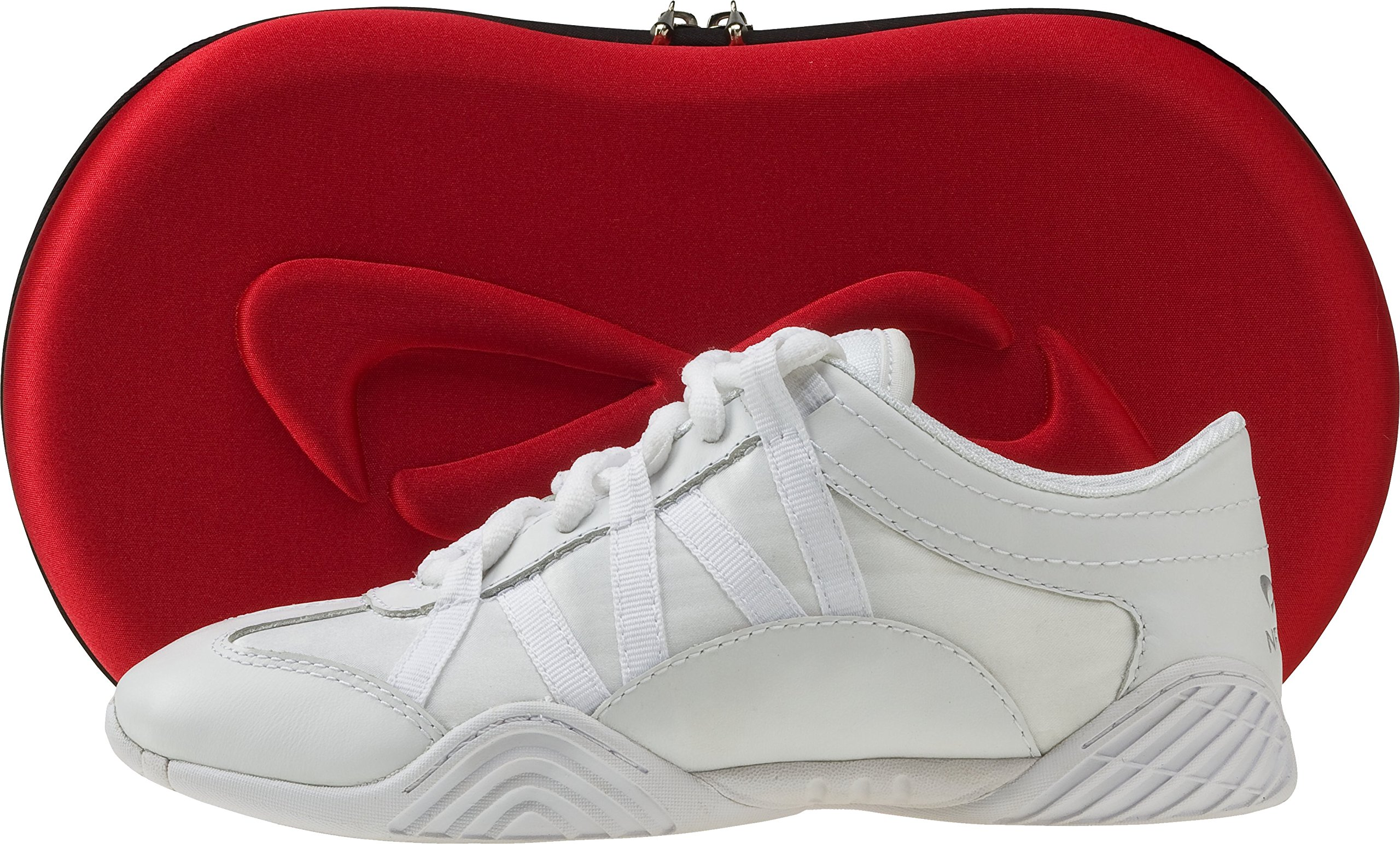 Nfinity Youth Evolution Cheer Shoes, White, 3 by Nfinity