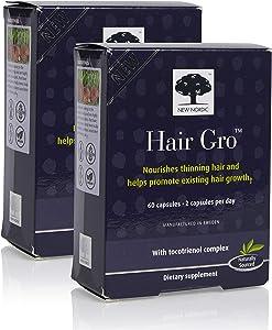 New Nordic Hair GRO, 60 Capsules (Pack of 2)