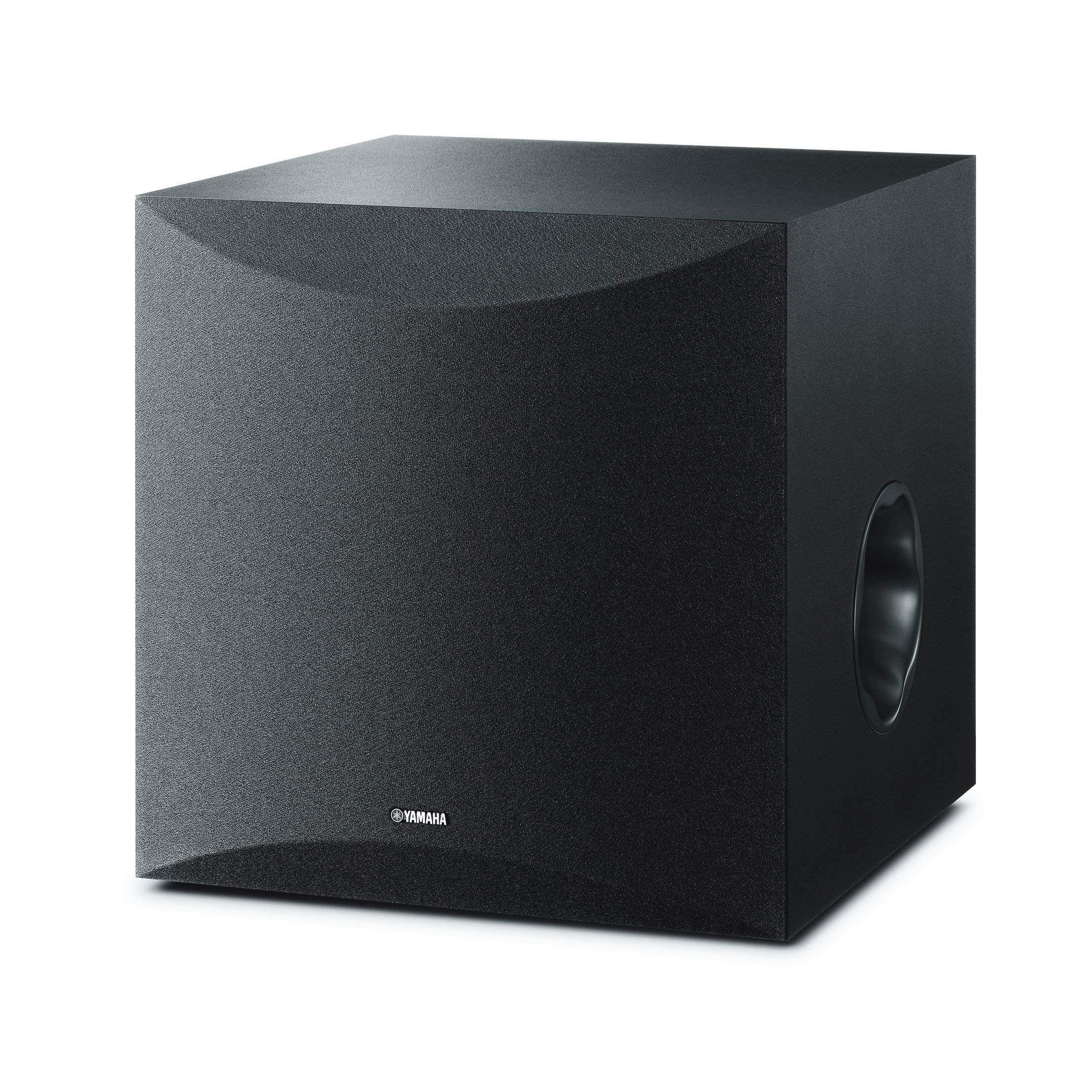 Yamaha 10'' 100W Powered Subwoofer - Black (NS-SW100BL) (Renewed) by Yamaha Audio