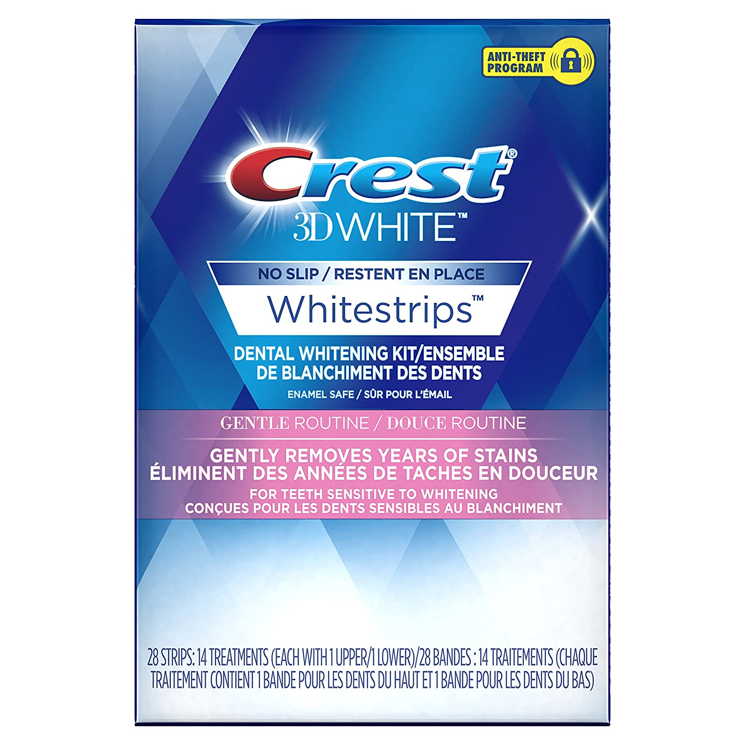 Crest 3D White Whitestrips Gentle Routine Treatments, 14 Count Procter and Gamble