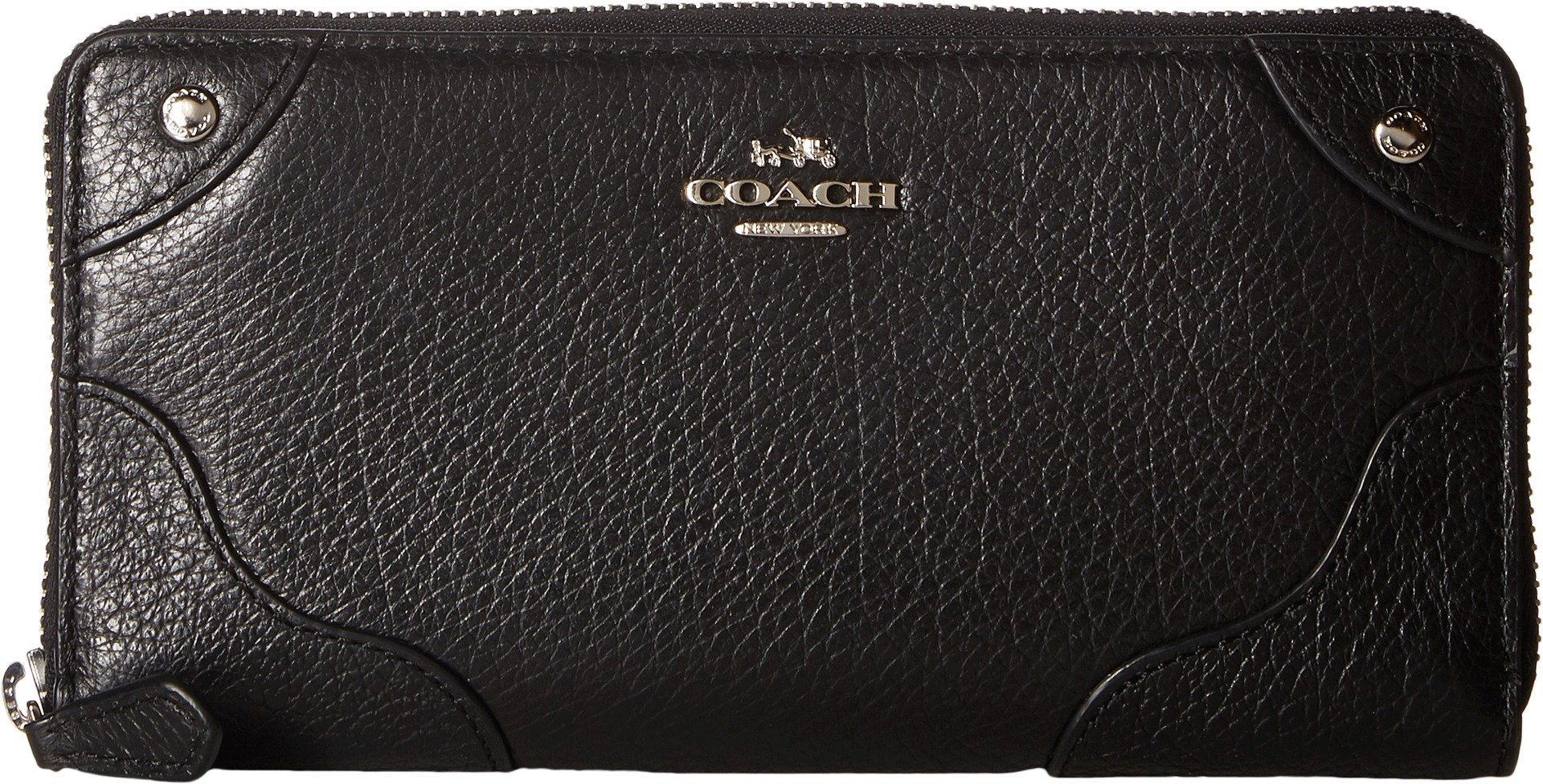 COACH Women's Grain Leather Mickie Wristlet Chalk One Size