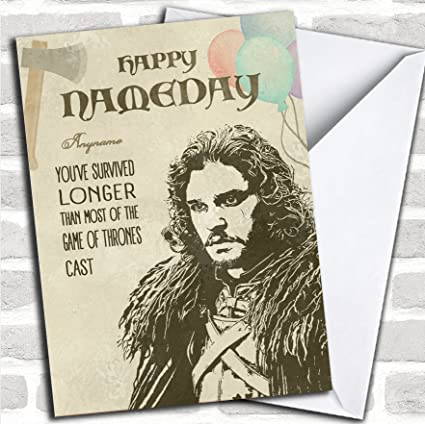 Amazon got jon snow name day game of thrones birthday got jon snow name day game of thrones birthday personalized greetings card m4hsunfo