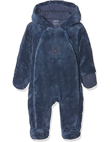 fb16c4ea Mamas & Papas Baby Boys' Blue Fur Pramsuit Snowsuit