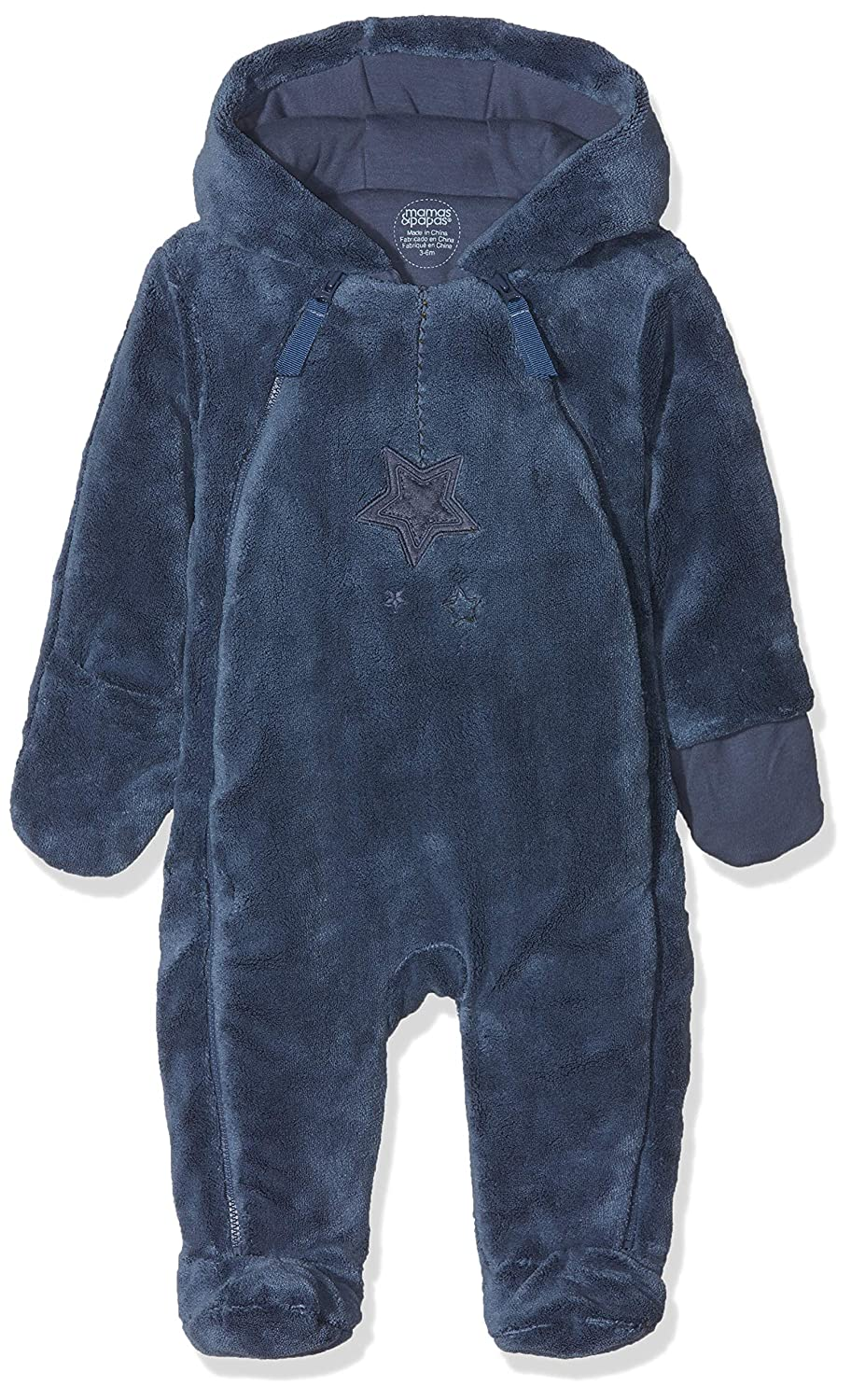 Mamas & Papas Baby Boys' Blue Fur Pramsuit Snowsuit Mamas and Papas