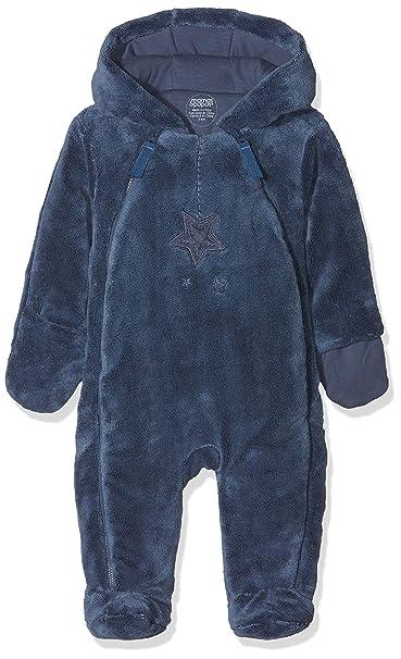 1131516f0 Mamas   Papas Baby Boys  Blue Fur Pramsuit Snowsuit  Amazon.co.uk ...