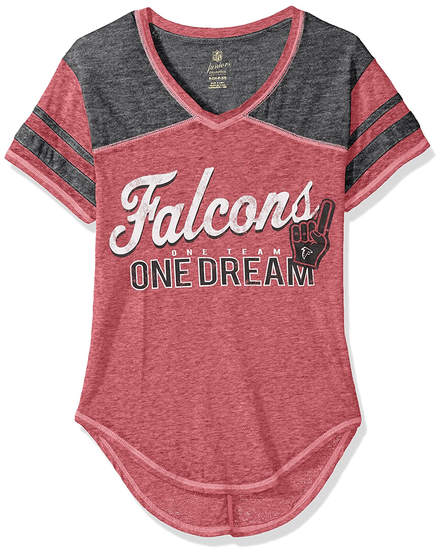 Crimson Juniors XSmall(01) NFL Juniors NFL Junior Girls Vintage Short Sleeve Football Tee