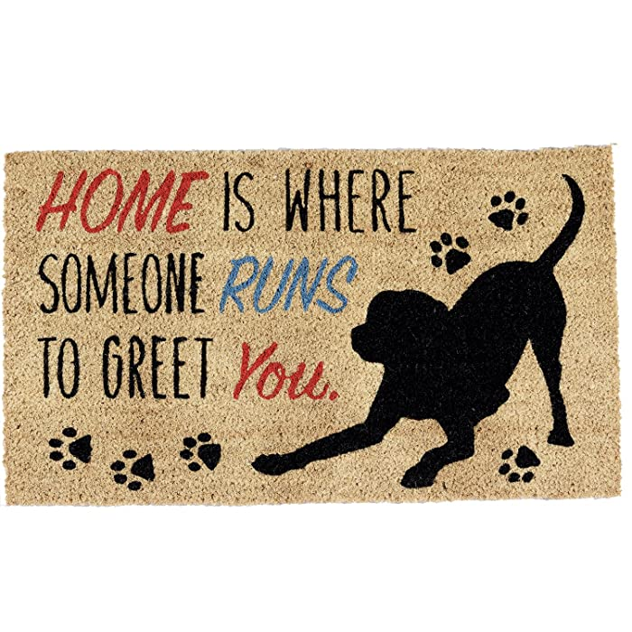 The Best Home Is Where The Dog Is Door Mat