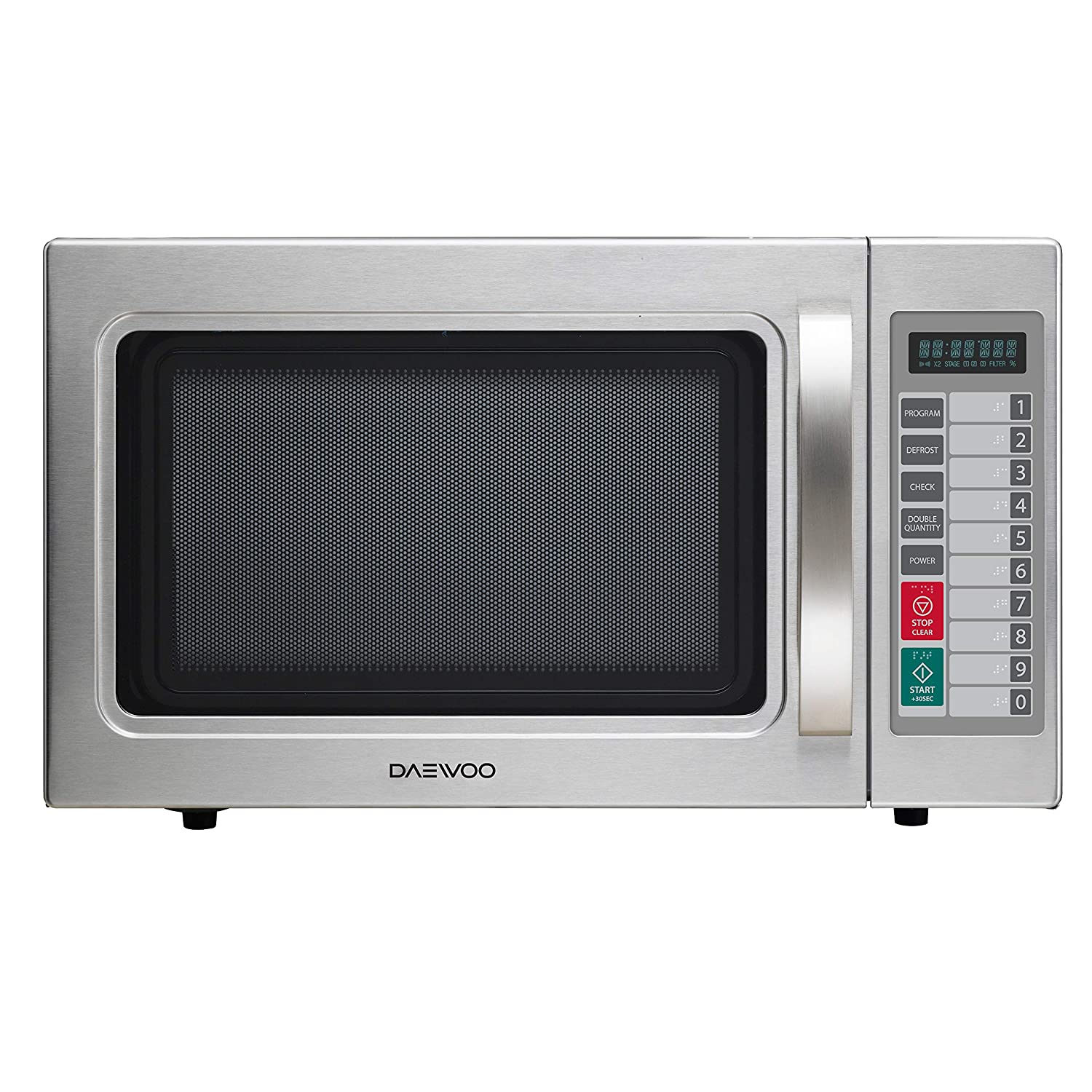 Daewoo KOM-9P5CES Commercial Microwave Oven 1.0 Cu. Ft., 1000W | Stainless Steel