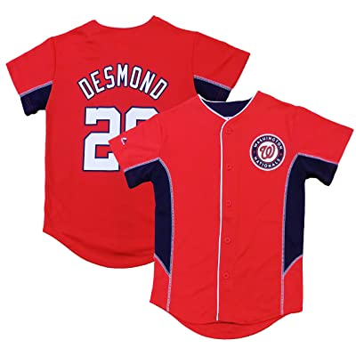 OuterStuff Ian Desmond Washington Nationals Red Youth Team Leader Replica Jersey