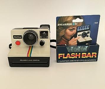 Amazon.com : Polaroid OneStep SX-70 White/Rainbow Camera : Instant ...