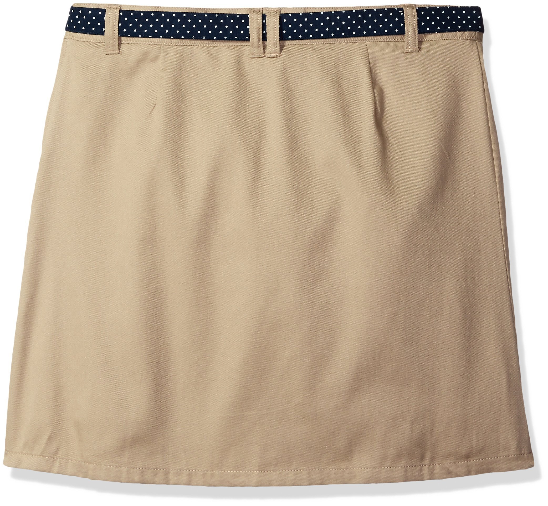 French Toast Big Girls' Polka Dot Belted Scooter, Khaki, 7 by French Toast (Image #2)