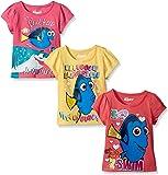 Disney Girls' 3 Pack Finding Dory T-Shirt