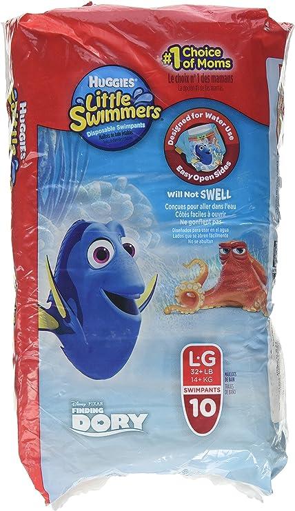10-Count Huggies Little Swimmers Swim Pants Size L  32+lb Nemo /& Winnie the Pooh