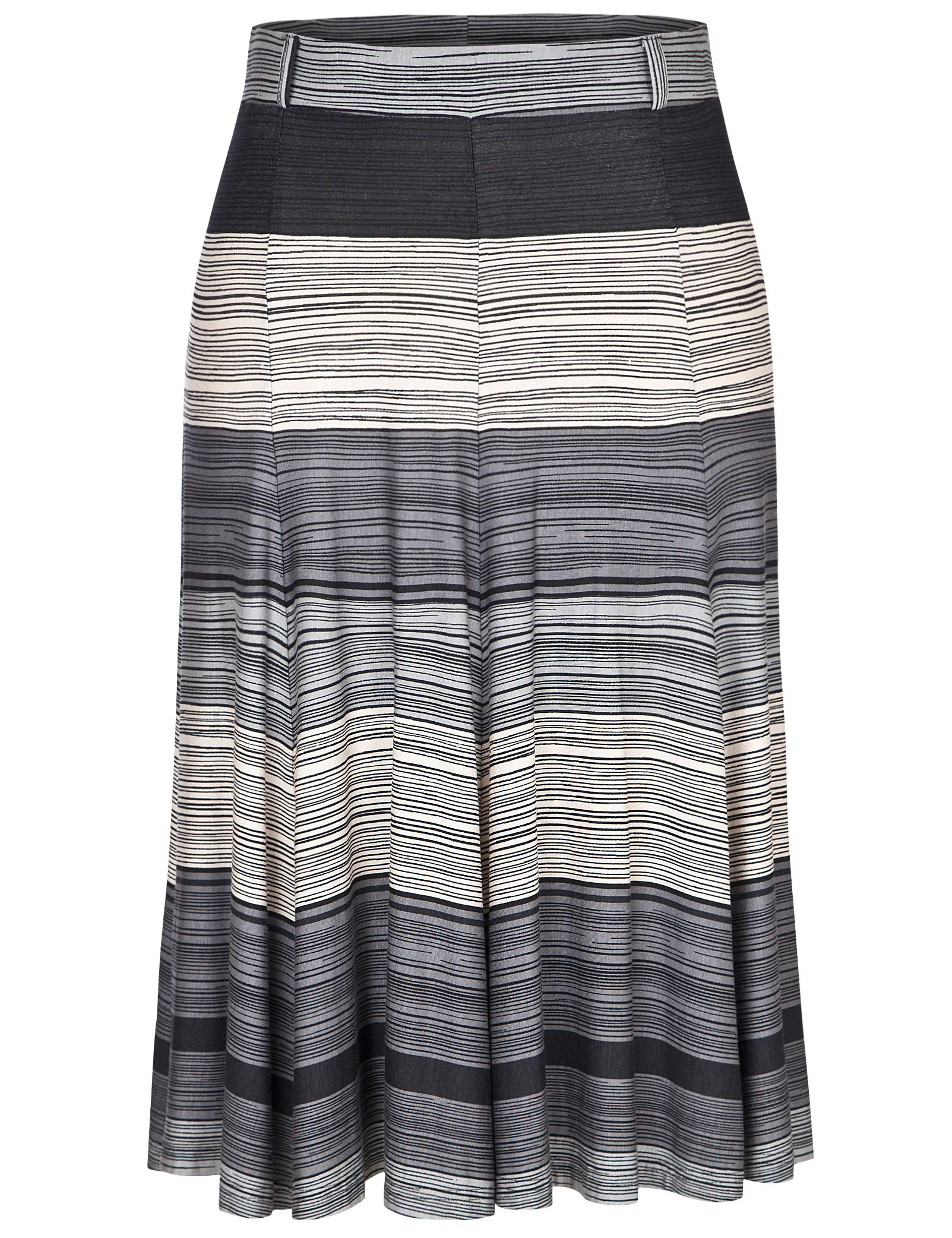 Chicwe Women's Plus Size A Line Flared Knee Long Skirt with Stretch Waistband 20