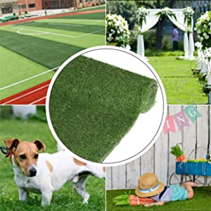 Grasslife Artificial Grass Turf, Synthetic Mat Realistic Deluxe Thick Office Balcony Garden Astro Lawn Landscape Patio Backyard Carpet with Drainage Holes 6.5ft x 8ft (52 Square FT) 4 Tone