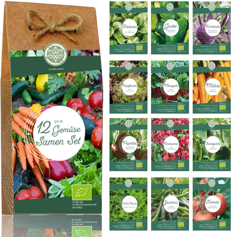 12 Sorten Bio Gemüse Saatgut