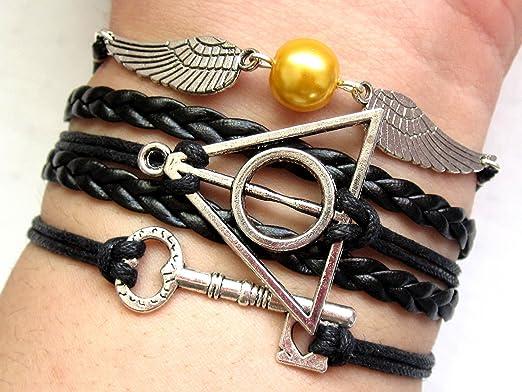 Pulsera de plata con alas de ángel de Harry Potter con ...