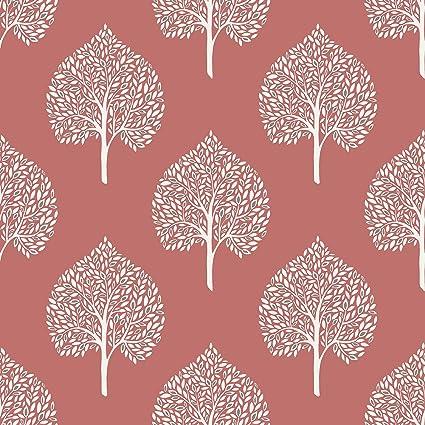 Nuwallpaper Nu1698 Grove Coral Peel Stick Wallpaper Amazoncom