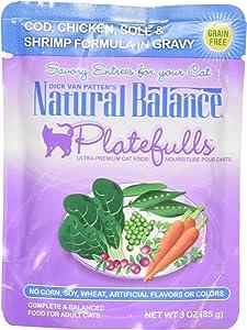 Natural Balance Indoor Platefuls Cod/Chicken/Sole Cat Pouch, 3 Oz
