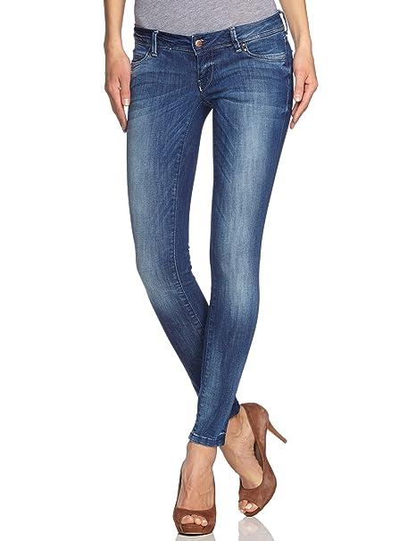 15c85a11f38903 ONLY Damen Jeanshose/ Lang Slim Fit, coral super low 15048029, Skinny /  Slim Fit (Röhre)