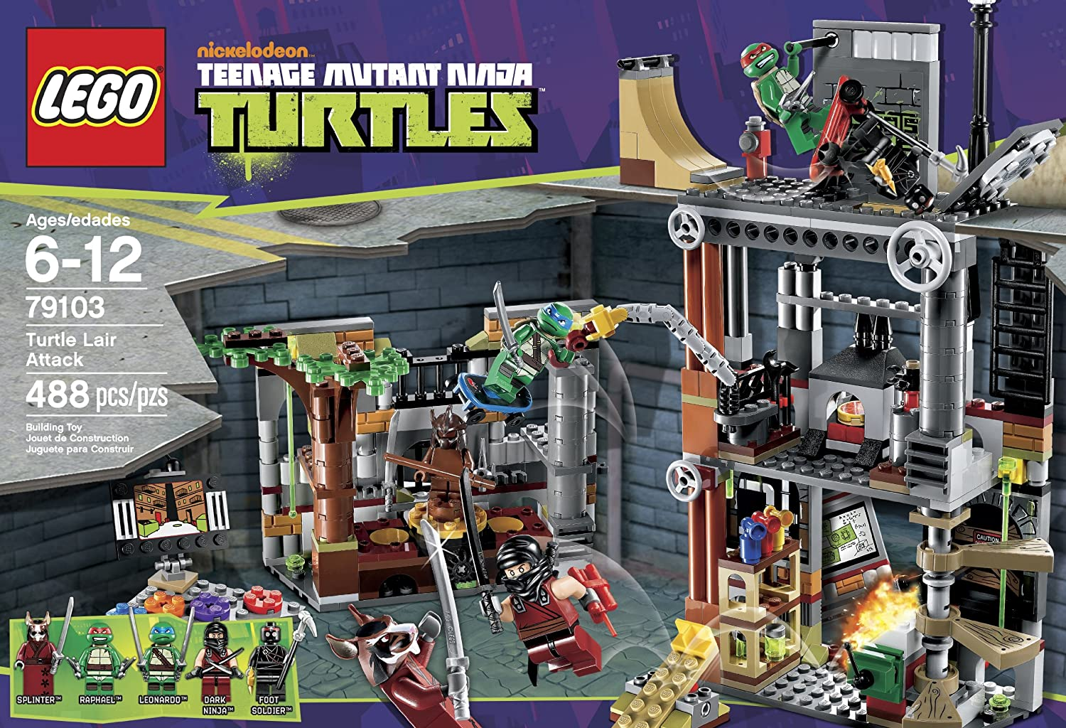 Amazon.com: LEGO Ninja Turtles Turtle Guarida Attack 79103 ...