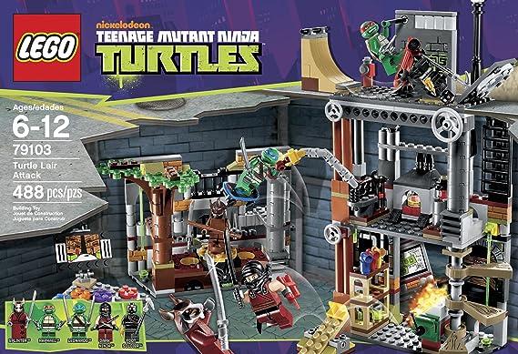 Amazon.com: LEGO Ninja Turtles Turtle Lair Attack 79103: Toys & Games