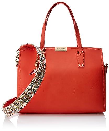 Damen Rosemary Smooth Ecoleather/Stuoia Handle Bag Schultertasche, Beige, 27x27x15 centimeters Trussardi