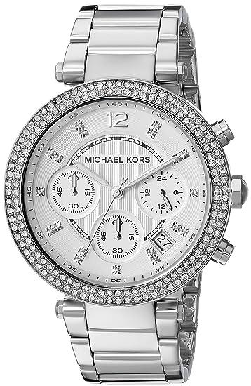 Michael Kors MK5353 - Reloj de cuarzo con correa de acero inoxidable para  mujer 6177fe67d4e9