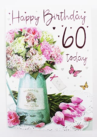 Happy 60th Birthday Card Fur Ihre Grosse Vers Qualitat Grusskarte Luxus Milestone