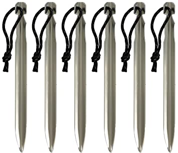 Wechsel tents V-Peg - Tent Pegs Suitable for Hard and Loose Ground 6pcs Amazon.co.uk Sports u0026 Outdoors & Wechsel tents V-Peg - Tent Pegs Suitable for Hard and Loose Ground ...