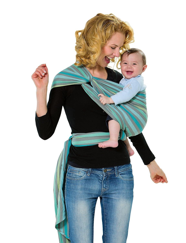 AMAZONAS Babytragetuch Carry Sling Pacific 450 cm 0-3 Jahre bis 15 kg pastellfarben gestreift