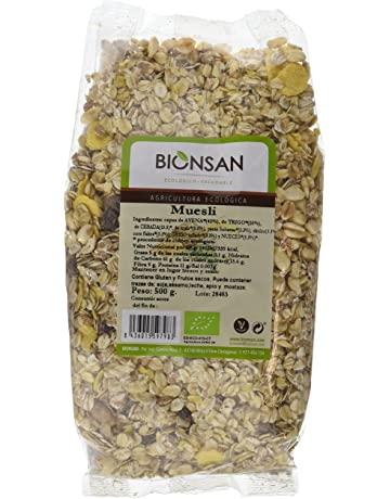 Bionsan Muesli de Cultivo Ecológico - 6 Paquetes de 500 gr - Total: 3000 gr